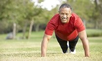 Man exercising for a healthy heart.