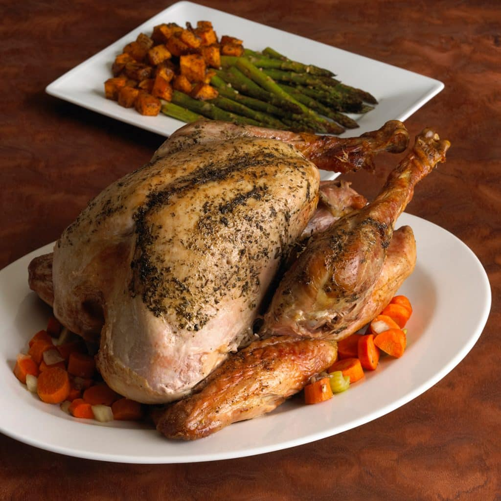 Roasted Turkey with Butternut Squash and Asparagus- Heart Healthy Recipe