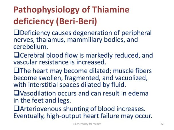 heart disease and thiamine